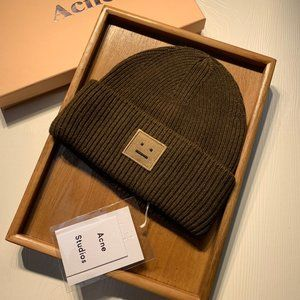Acne Studios ribbed beanie hat brand new Brown